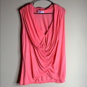 Jennifer Lopez Pink Size Large Sleeveless Blouse